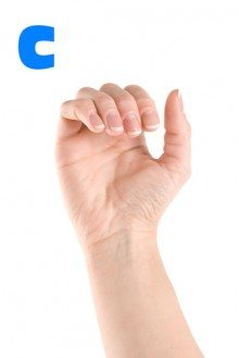 how to sign C in ASL American sign language
