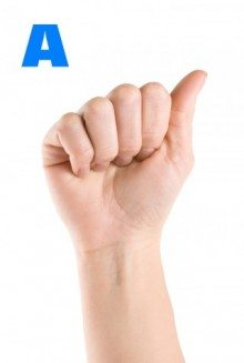 how to sign  A in sign language